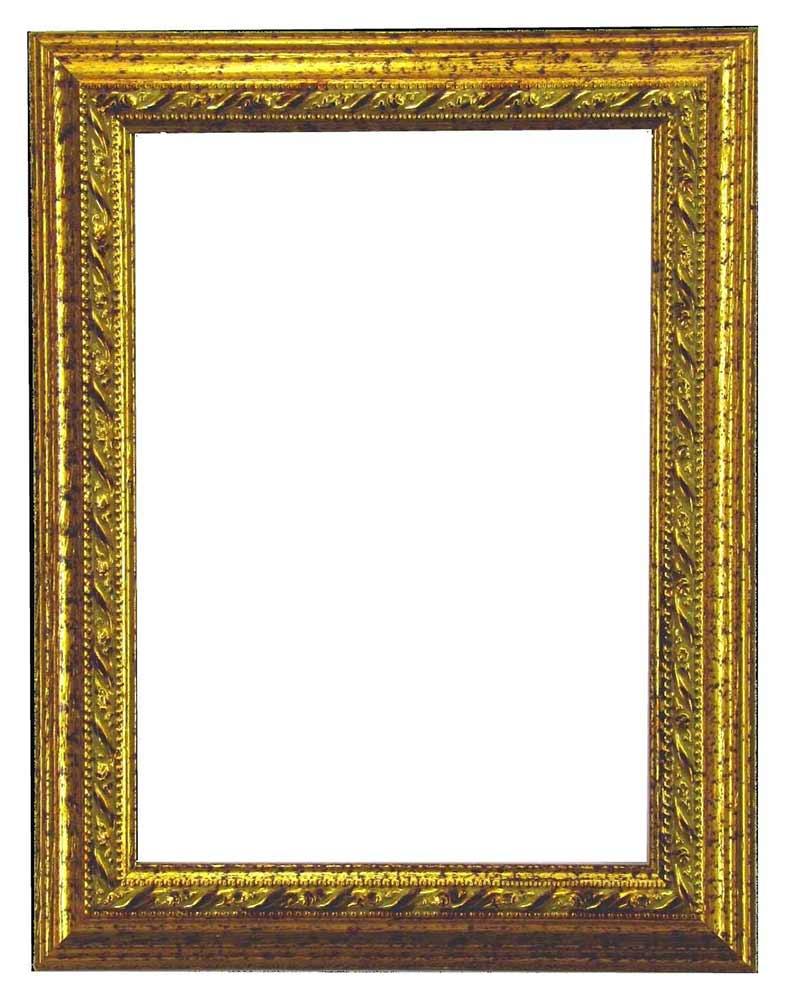 Bilderrahmen aus Holz, Klosterarbeiten, Farbe Gold, Patinierung