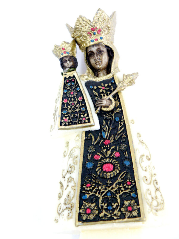 Altöttinger Madonna, Wachsfigur für Klosterarbeiten, 12 x 6,5 cm