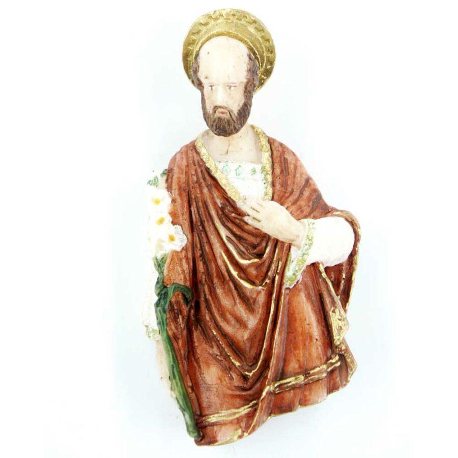 Brustfigur Josef mit Lilienstrauß aus Wachs für Klosterarbeiten