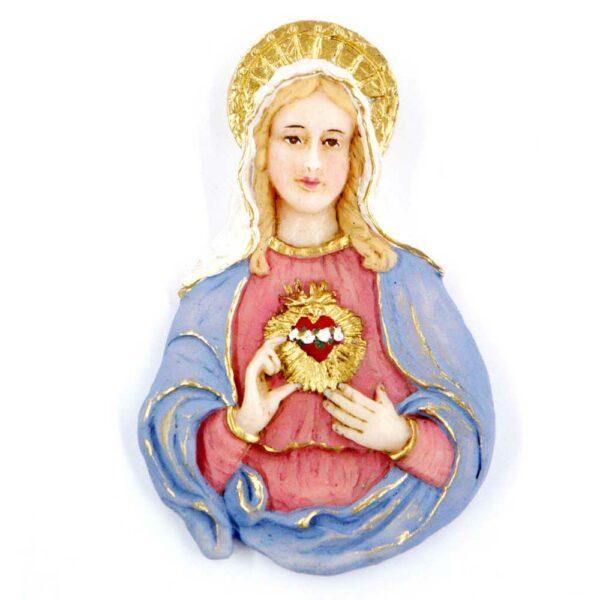 Brustmadonna Herz Maria in Wachs für Klosterarbeiten