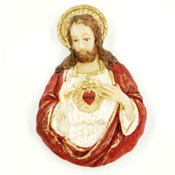 Herz Jesu in handbemaltem Wachs für Klosterarbeiten