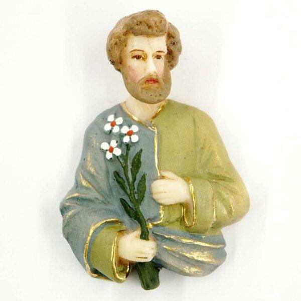 Josef mit Lilienstrauß aus Wachs für Klosterarbeiten