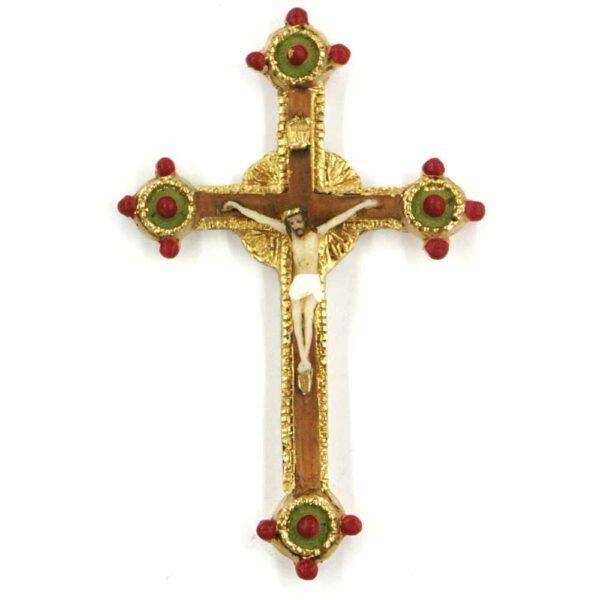 Kreuz mit Heiligenschein aus Wachs für Klosterarbeiten