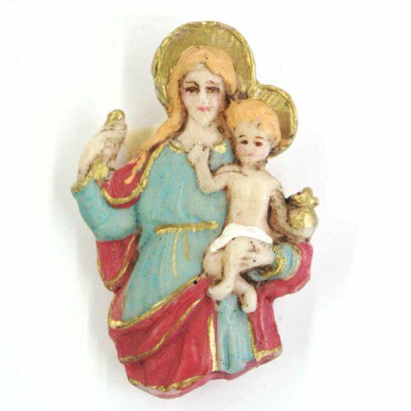 Brustmadonna mit Kind Heiligenschein in Wachs