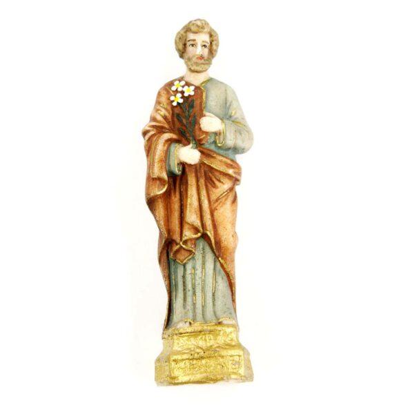 Josef als Statue in handbemaltem Wachs für Klosterarbeiten