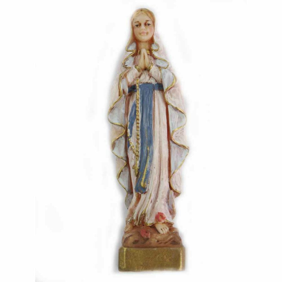 Madonna-Lourdes-Wachs-Statue-Klosterarbeiten