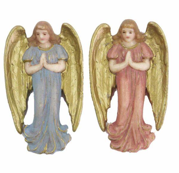 betender Schutzengel mit großen Flügeln in Wachs