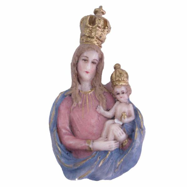 Brustmadonna mit Kind und Krone in Wachs