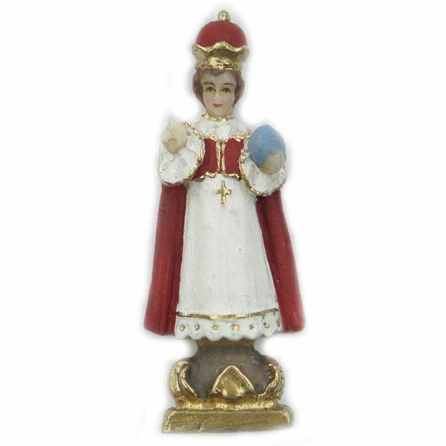 Prager-Jesulein aus handbemaltem Wachs für Klosterarbeiten
