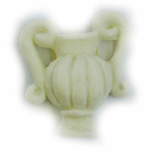 Wachsvase mit Henkel in elfenbein