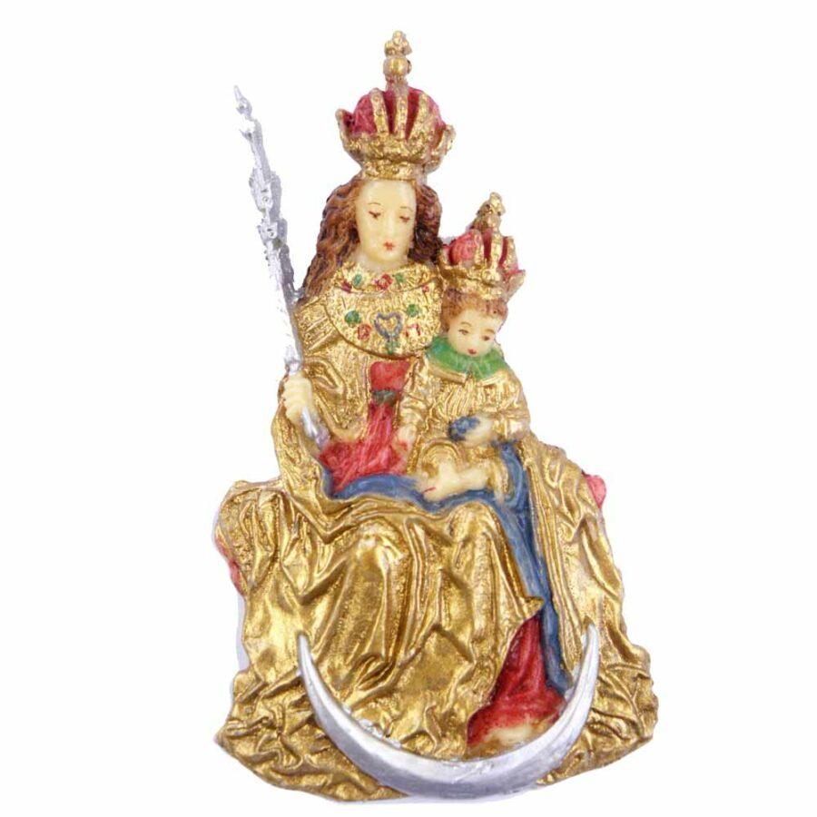 Andechser Madonna mit Zepter in Wachs für Klosterarbeiten
