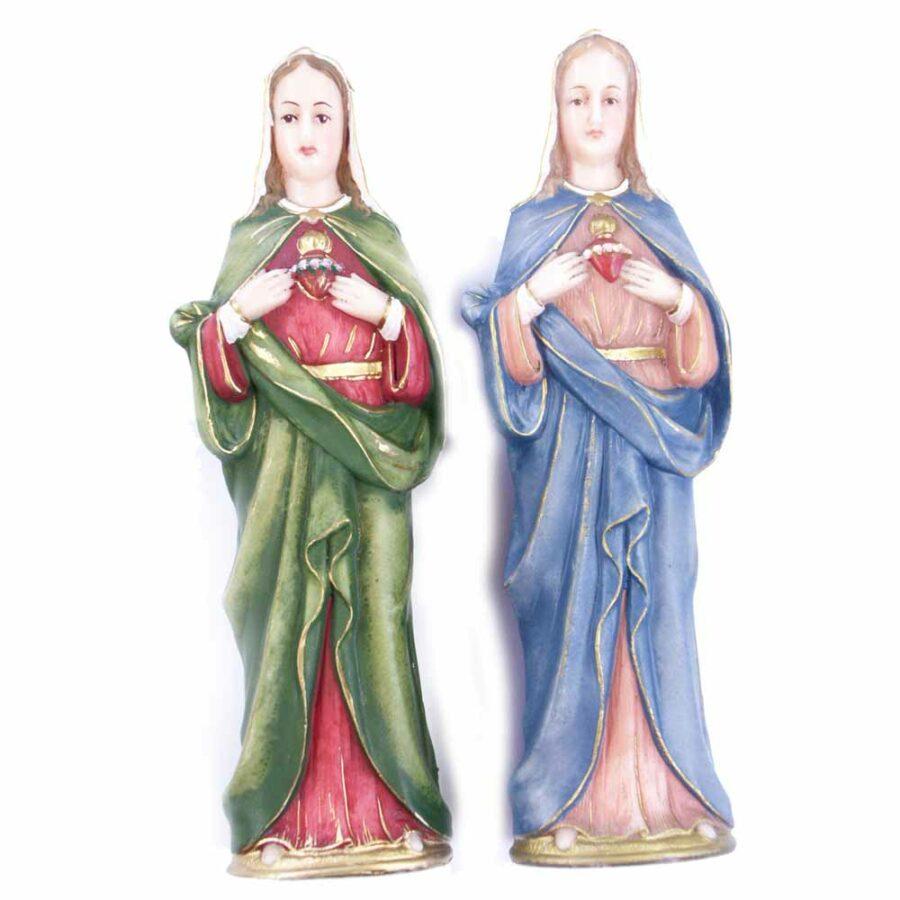 Herz-Maria als Statue in handbemaltem Wachs für Klosterarbeiten