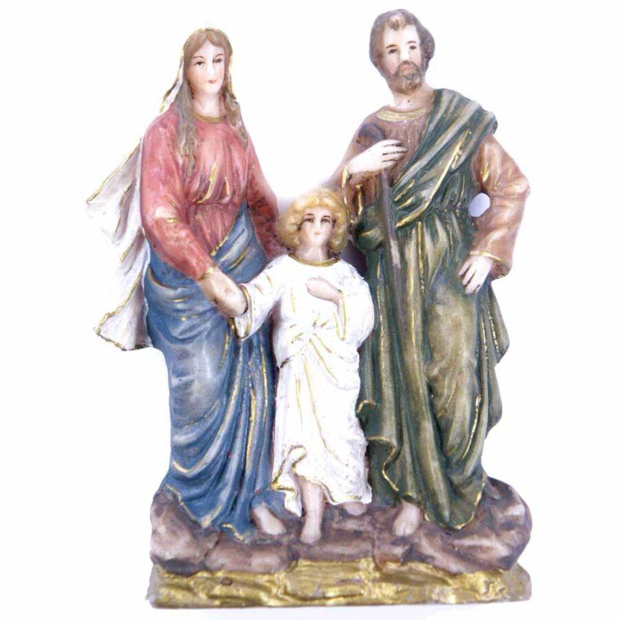 Heilige-Familie im Block aus handbemaltem Wachs