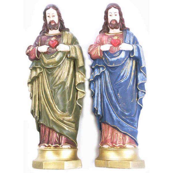 Herz-Jesu als Statue aus Wachs für Klosterarbeiten