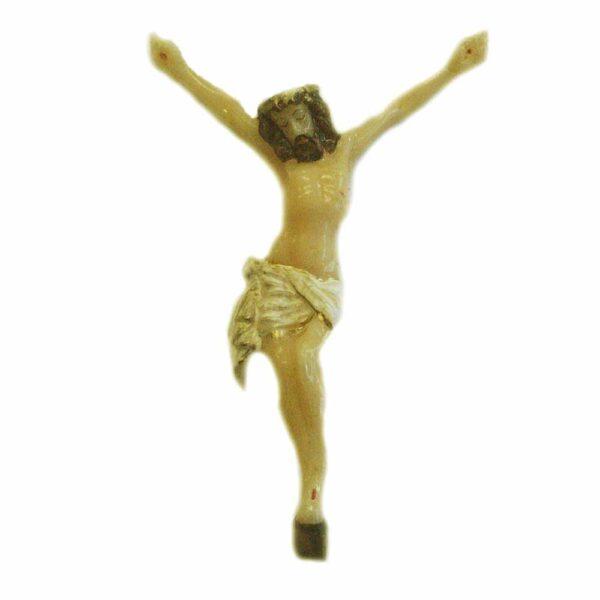 Wachskorpus der Gekreuzigte für Klosterarbeiten
