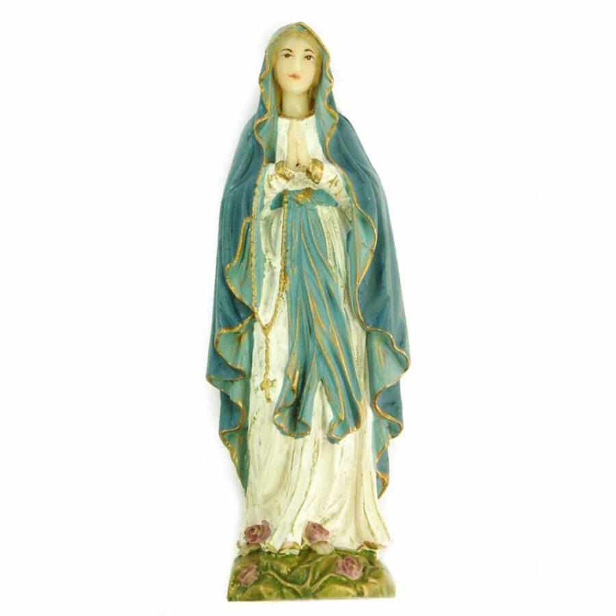 Madonnenstatue Lourdes aus handbemaltem Wachs