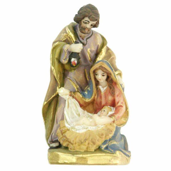 Heilige Familie im Block aus handbemaltem Wachs