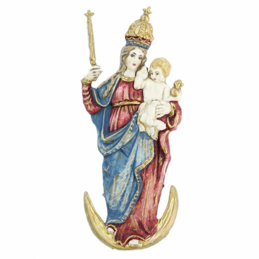 Madonna-Bavaria mit Zepter aus Wachs für Klosterarbeiten