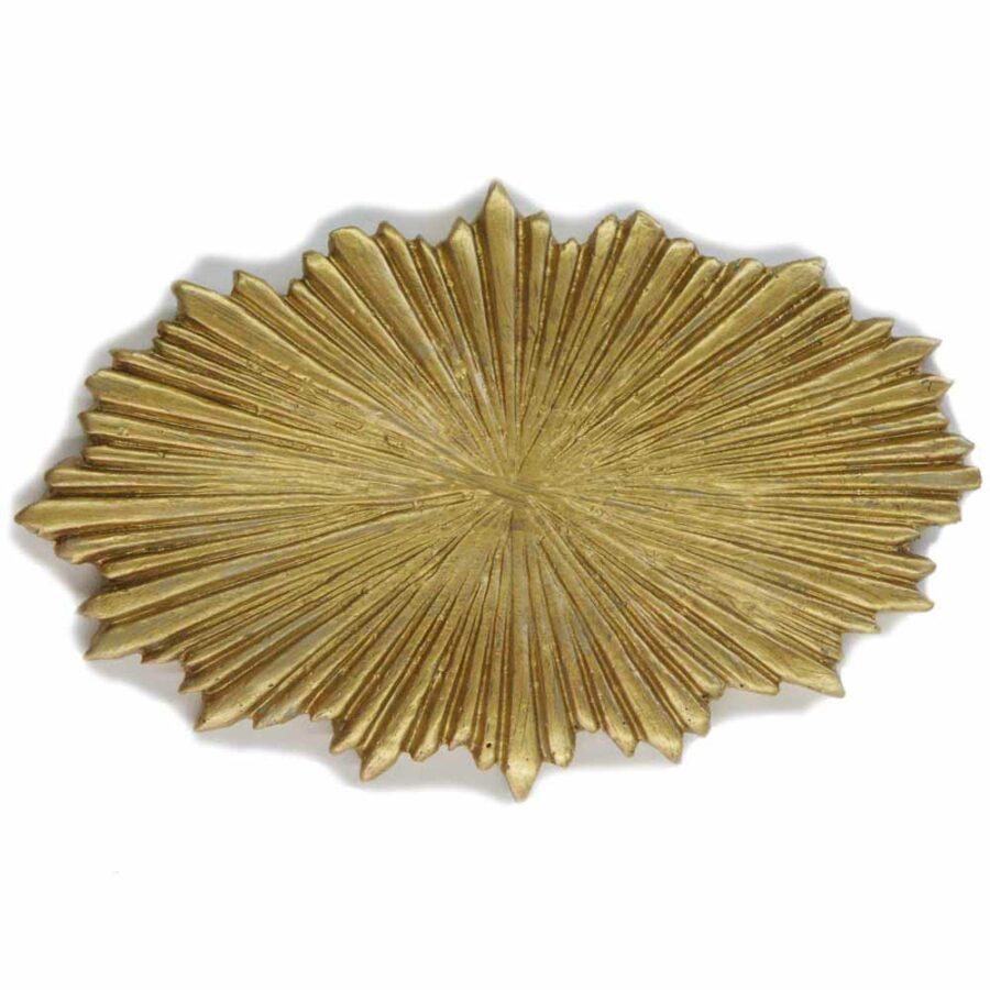 Heiligenschein aus Wachs in goldener Farbe für Klosterarbeiten
