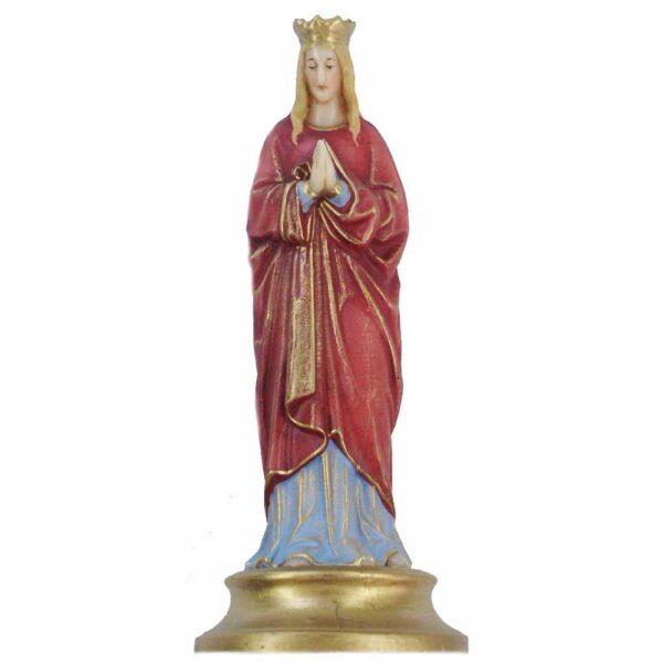 betende Madonna auf goldenem Sockel in Wachs