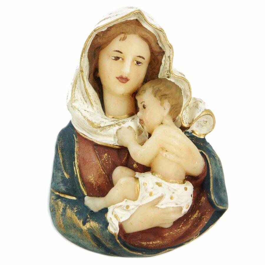 Brustmadonna mit Kind in Wachs für Klosterarbeiten