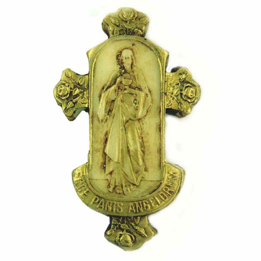 Medaillion aus Wachs für Klosterarbeiten