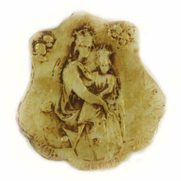 Medaillion Madonna mit Kind in patiniert für Klosterarbeiten