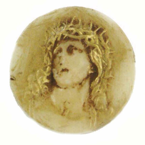 Medaillion mit Christuskopf als Plakette für Klosterarbeiten