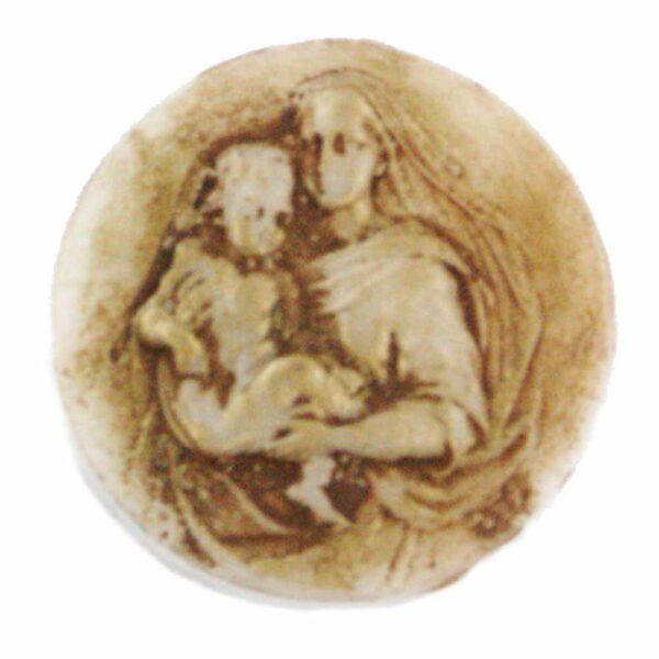 Medaillion als runde Plakette für Klosterarbeiten