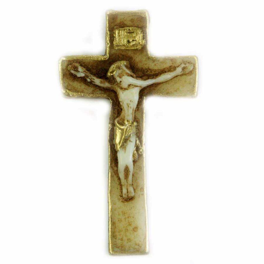 Kreuz in gerader Form aus Wachs für Klosterarbeiten