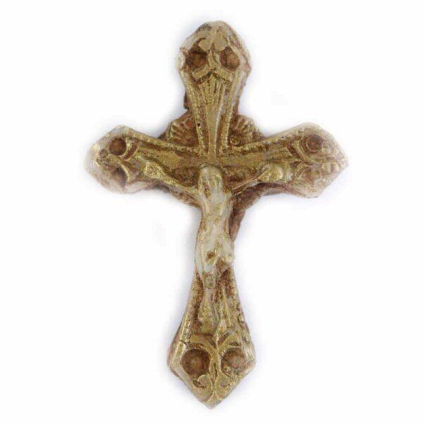 geschwungenes Kreuz in Wachs für Klosterarbeiten
