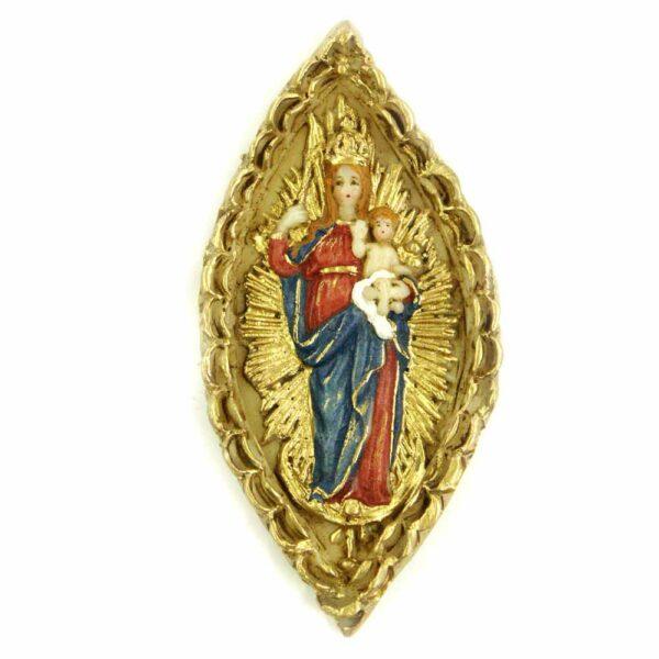Medaillion Madonna mit Kind auf Heiligenschein für Klosterarbeiten