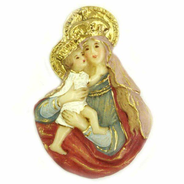 Brustmadonna mit Kind und Heiligenschein in Wachs für Klosterarbeiten