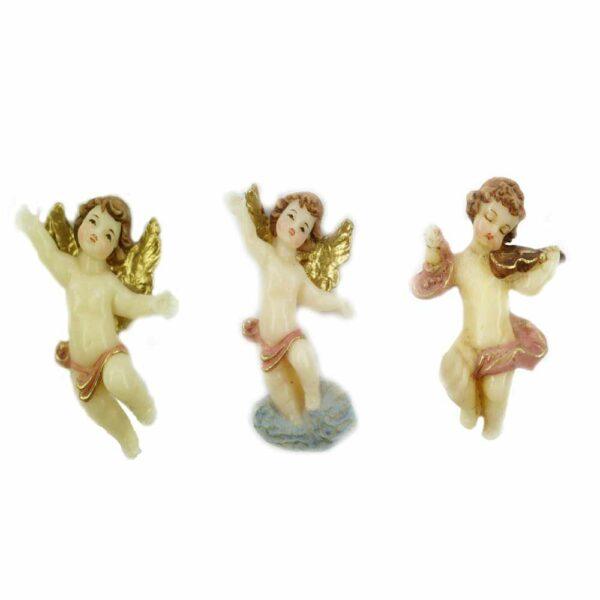 fliegender Engel in handbemaltem Wachs für Klosterarbeiten
