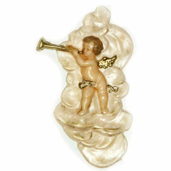 Engel musizierend in einer Wolke stehend aus Wachs für Klosterarbeiten