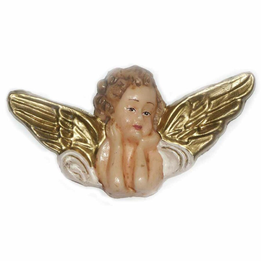 Engelkopf mit breiten Flügel in Wachs