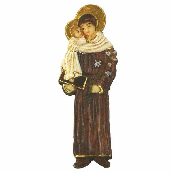 Hl. Antonius mit Heiligenschien in handbemaltem Wachs für Klosterarbeiten