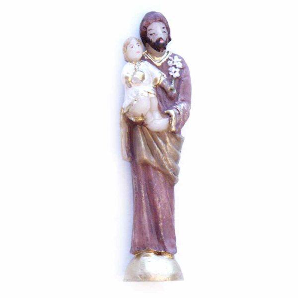 Statue Josef mit Kind in Wachs für Klosterarbeiten