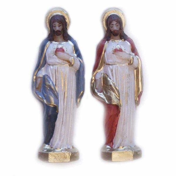 Herz Jesu kleine Figur in handbemaltem Wachs