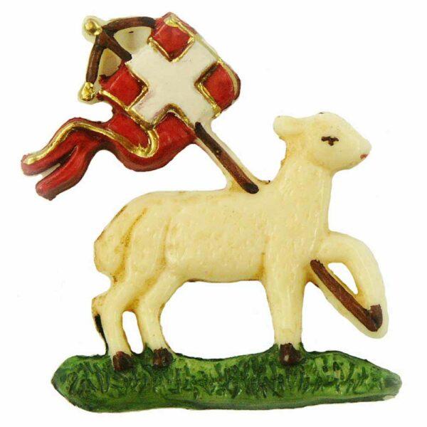 Wachsschaf mit Fahne in flach für Klosterarbeiten oder Kerzen
