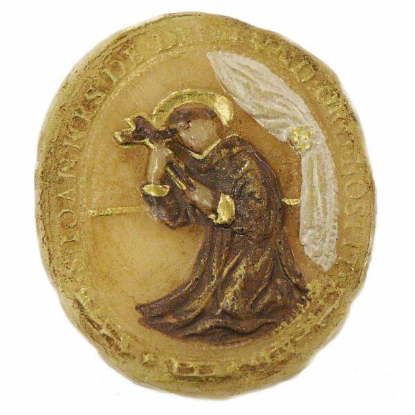 Medaillion mit Bruder Konrad in Wachs für Klosterarbeiten