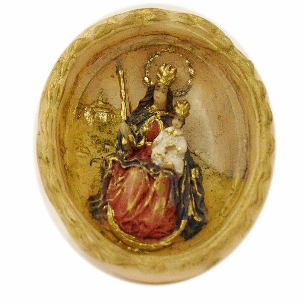 Medaillion mit Patrona Bavaria in Wachs für Klosterarbeiten