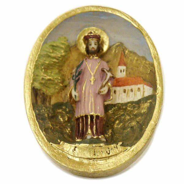 Medaillion mit Hl.Nepomuk in Wachs für Klosterarbeiten