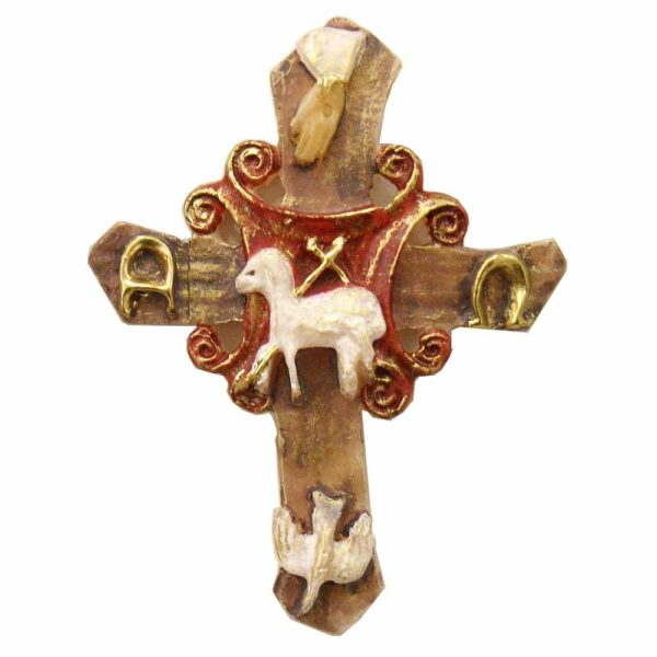 Wachskreuz mit Dreifaltigkeit in Wachs für Klosterarbeiten