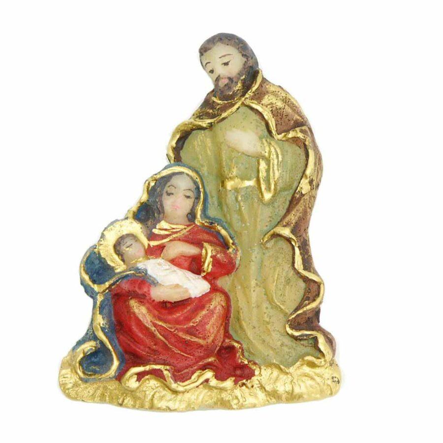 Hl. Familie in handbemaltem Wachs für Klosterarbeiten
