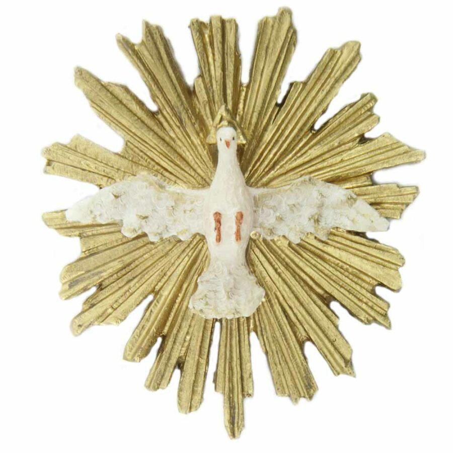 Hl. Geist aus handbemaltem Wachs für Klosterarbeiten