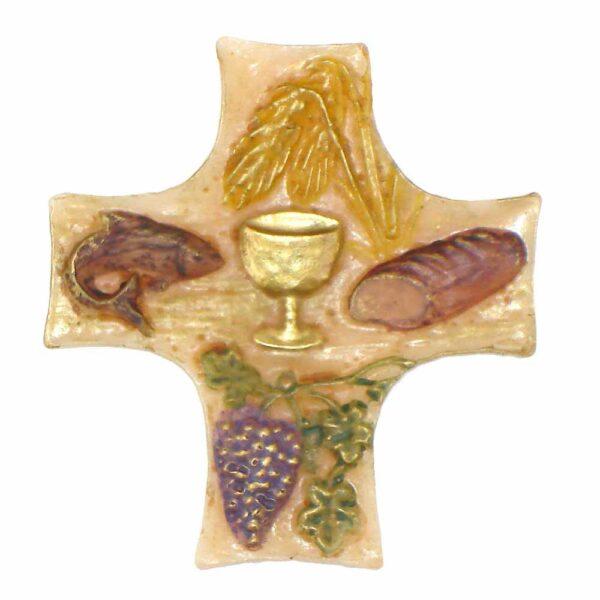 Brotsegen als Kreuz in Wachs