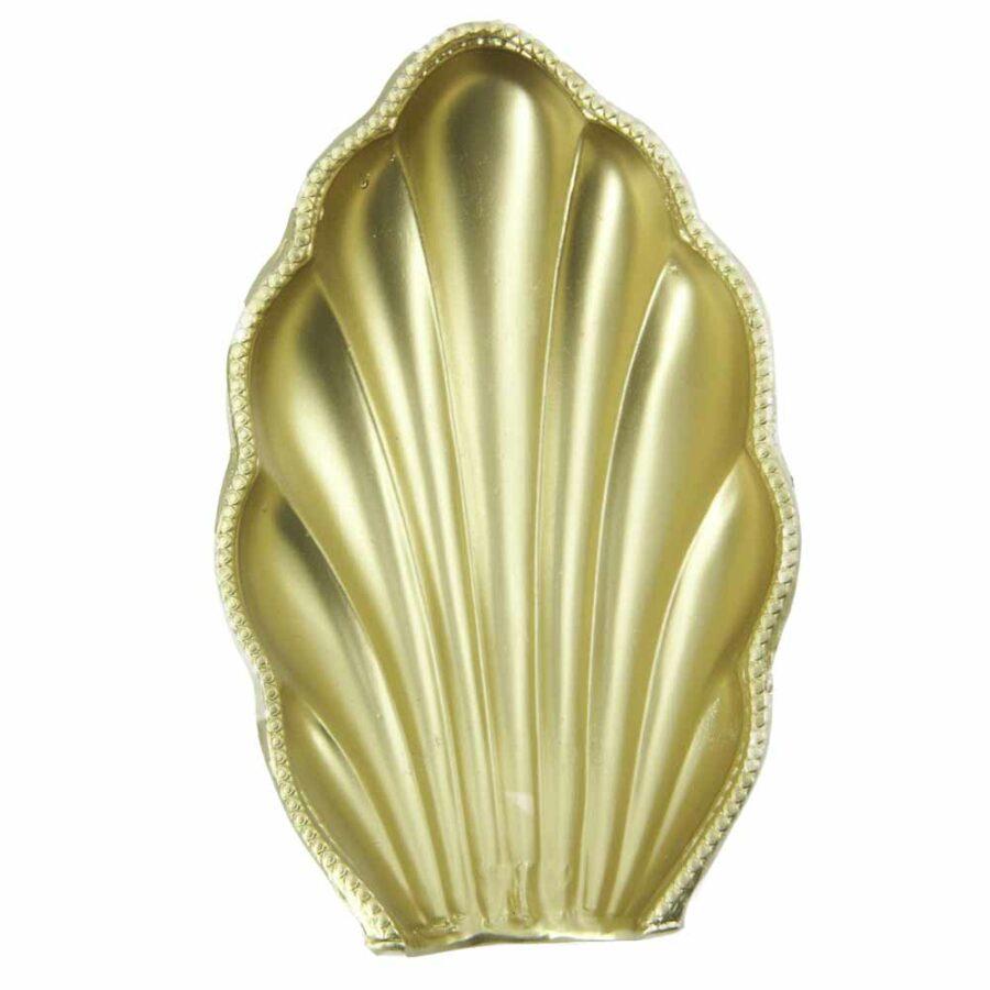 Muschel aus Wachs in gold für Klosterarbeiten