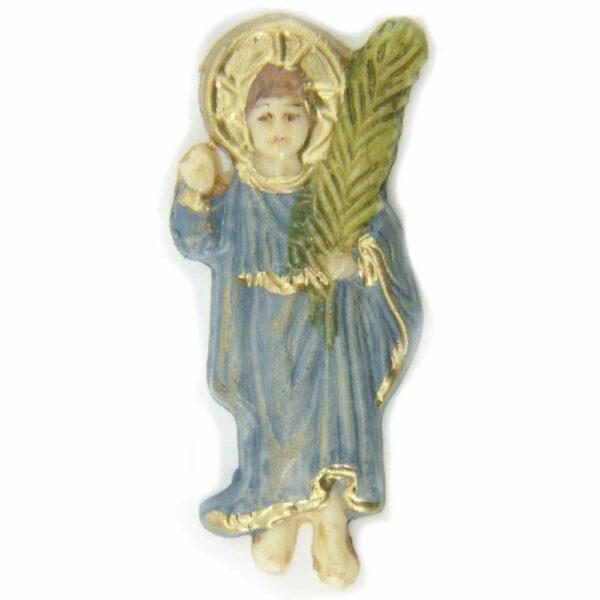 Jesukind mit Palmwedel in Wachs für Klosterarbeiten