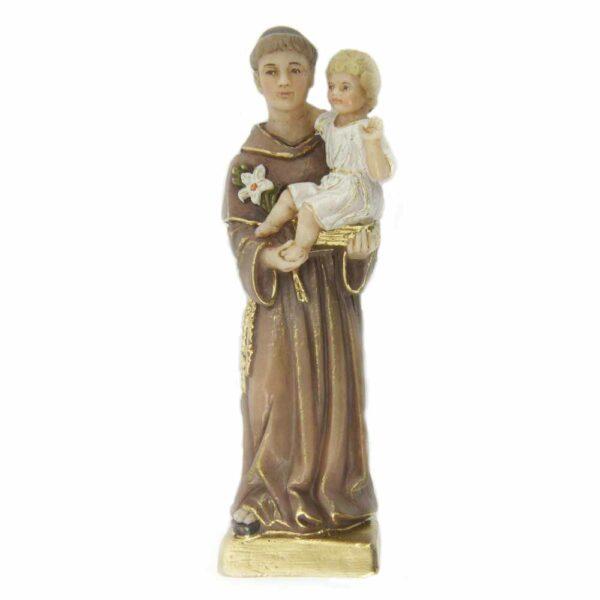 Hl. Antontius mit Kind am Arm als Statue aus Wachs